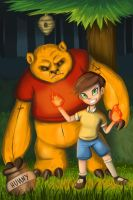 Tibbers the Pooh and Annie Robin by SherwoodComics