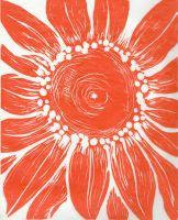 Sunflower Orange and White by Infamous-Mr-Oob