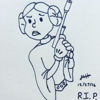 RIP Carrie Fisher by JK-Antwon