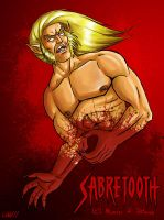 Sabretooth in blood by Logna