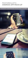 Photorealistic Mobile App Mock-Up by Genetic96