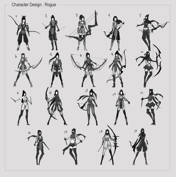 Character Design Sketches by KenryChu