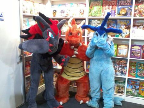 Pokemon fursuit in the book fair by vaporeon1306