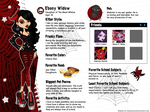 Monster High OC Ebony Widow Bio by teddy-beard