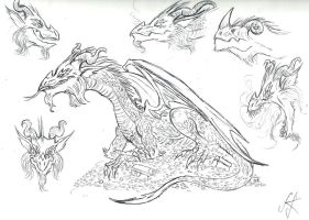 My take on Smaug by devilkais
