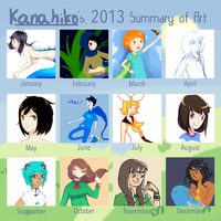 2013 Summary of Art by Kanahiko-chan