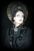 Stock - black and gold steampunk vampire by S-T-A-R-gazer