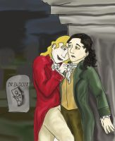 Louis and Lestat Christmas 1 by RiderRRiddle