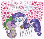 V-Day 2016: Spike x Rarity by gilster262