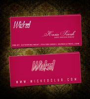 business card for wicked ppl by sounddecor