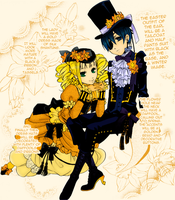 Ciel and Elizabeth Coloring by x-burner