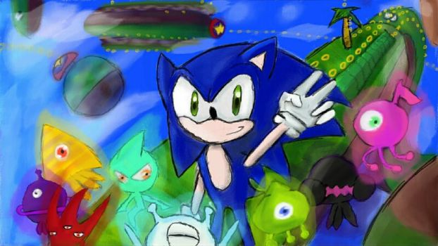 Sonic Lost World - Stopping by by DeathNoteDevil