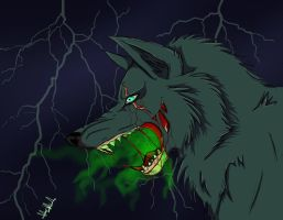 zombie wolf by ivy-kitty