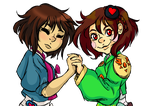 JoseonTale Frisk and Chara by embercl