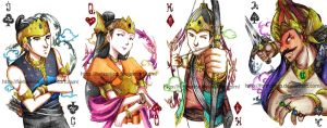 Ramayana playing card samples by Fortranica