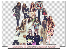 Jessica and Krystal render pack ~ by Luhye