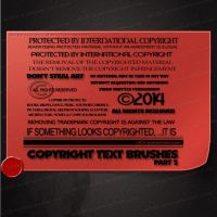Copyright Text 2 brushes by M10tje by M10tje