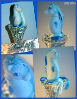 OOAK G1 MLP -Blueberry Soda- Custom Seapony by wylf