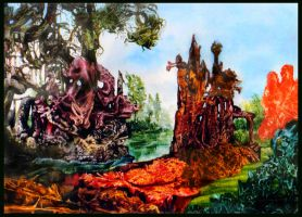 Decalcomania Swamp by ArtOfTheMystic