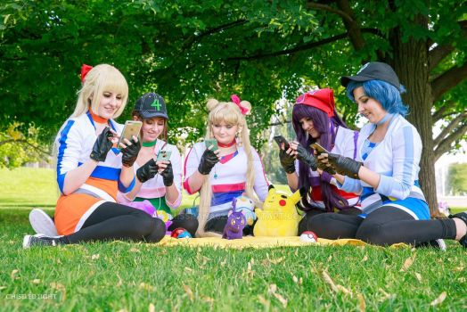 Even the scouts play Pokemon Go by MissRana62