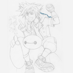 Sora + Baymax use Cure! (sketch) by ColorMyMemory