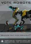 Warframe poster 'Vote Robots' by chaotea