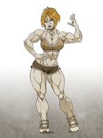 Fitness girl by Lord-Eustache