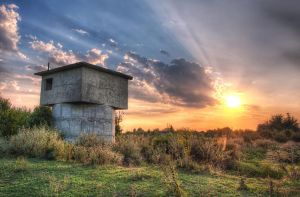 Pump Station Sunset by Pipera