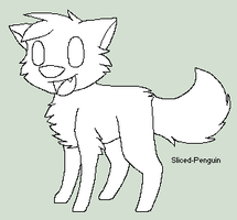 FREE chibi wolf/cat lineart (READ RULES IF USING) by Sliced-Penguin