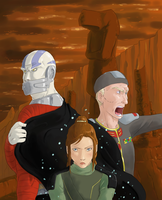 Malak, Bastila, and Saul by surfersquid