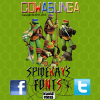 COWABUNGA font by SpideRaY