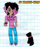 Emo Boy and his cat by Gokumi