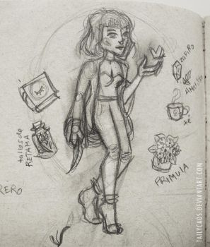 Witchy Sketch by TailyCaos