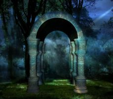 Temple forest by manilu