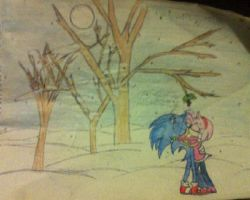 SonAmy Kiss Christmas by AshleytheSpeedWolf