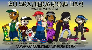 Sk8boarding Day: WILD GRINDERS by washue