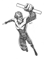 Nightwing Sketch Commission by JoeMDavis