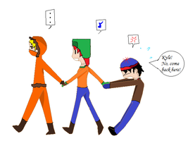 Kenny, Kyle, and Stan by NothingYouCouldLove