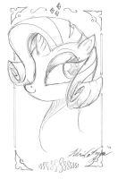 Rarity Gift Sketch by BoxedSurprise