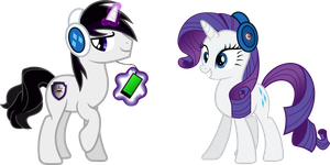 Vector Barr and Rari in headphones by Barrfind