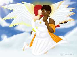 Angels Love by TheStitchyHeart