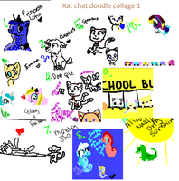 Xat chat doodle collage 1 by Perry--Agent