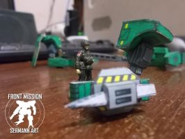 Paper models - Front Mission (spike) by Sermann