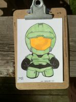 Master Chief - Halo Markers and Pens by JesseAcosta