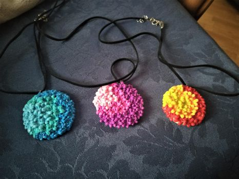 Flower Explosion Necklaces by CCristinaCreations