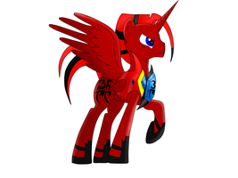 Sentinel Prime as a poneh (Redesign) by PrimeFighterQue