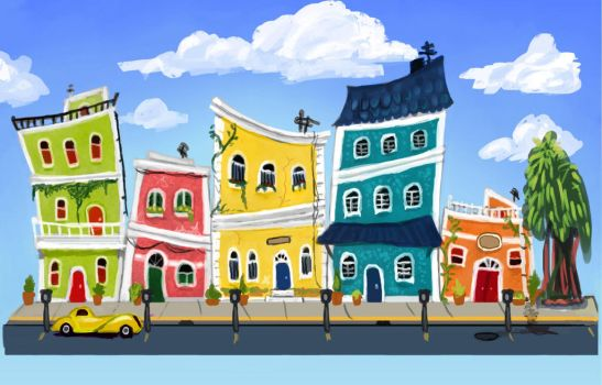 Puerto Rican Street Concept by Licorize