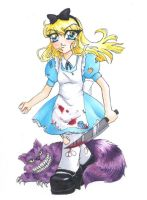 Murderous Alice by grimkim