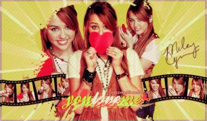 Wallpaper Miley Cyrus by MissJanePattinson