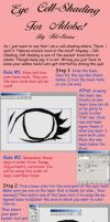 Cell Shading Tutorial for eyes by Tiki-Sama